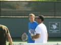 Training von Roger Federer in Indian Wells